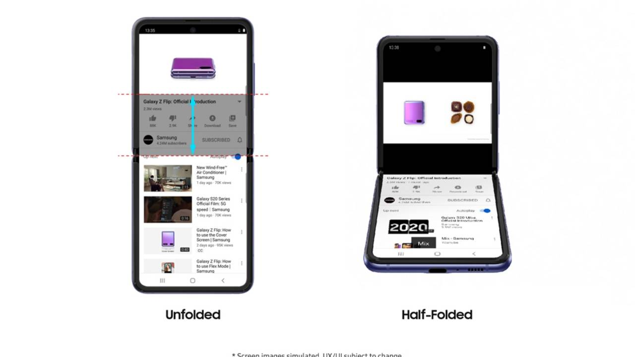 Galaxy Z Flip YouTube Flex Mode support might just be the beginning