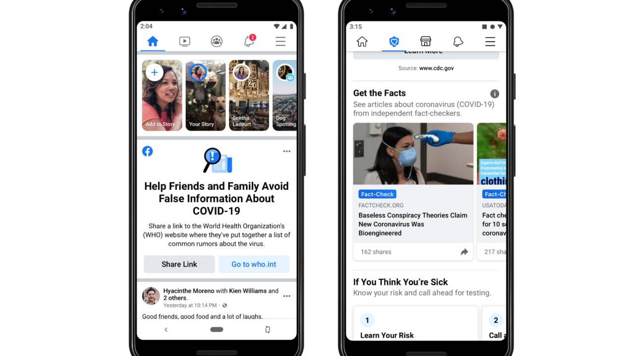 Facebook will warn those who've seen coronavirus fake news