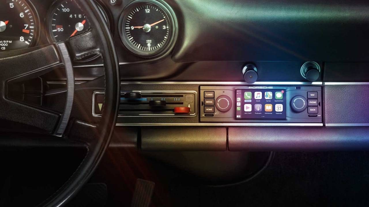 Porsche gives classic cars a CarPlay upgrade option