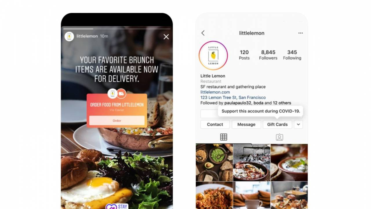 Instagram launches new stickers to help struggling small businesses