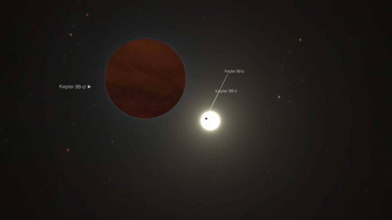 Scientists discovered a distant planet three times the mass of Jupiter