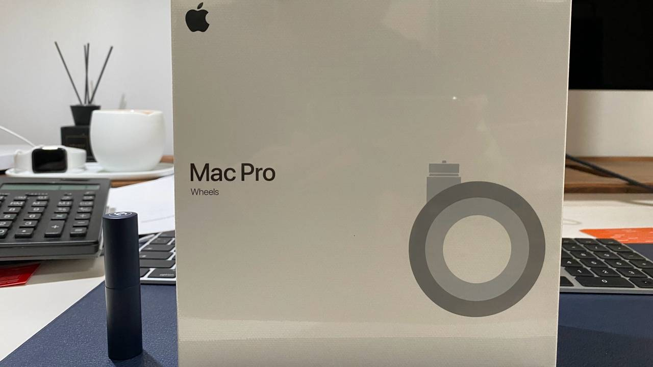 Mac Pro Wheels Kit photos show off that pricey add-on