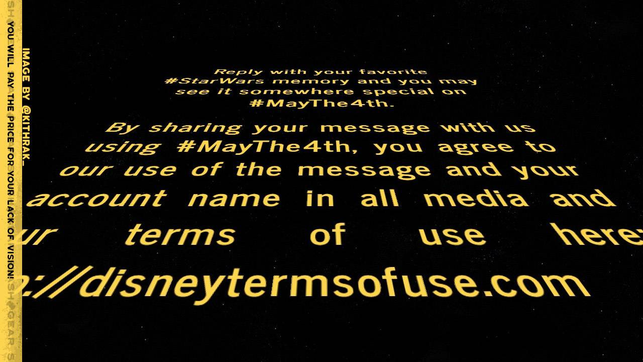Disney claims media rights to all #MayThe4th replies to one Tweet