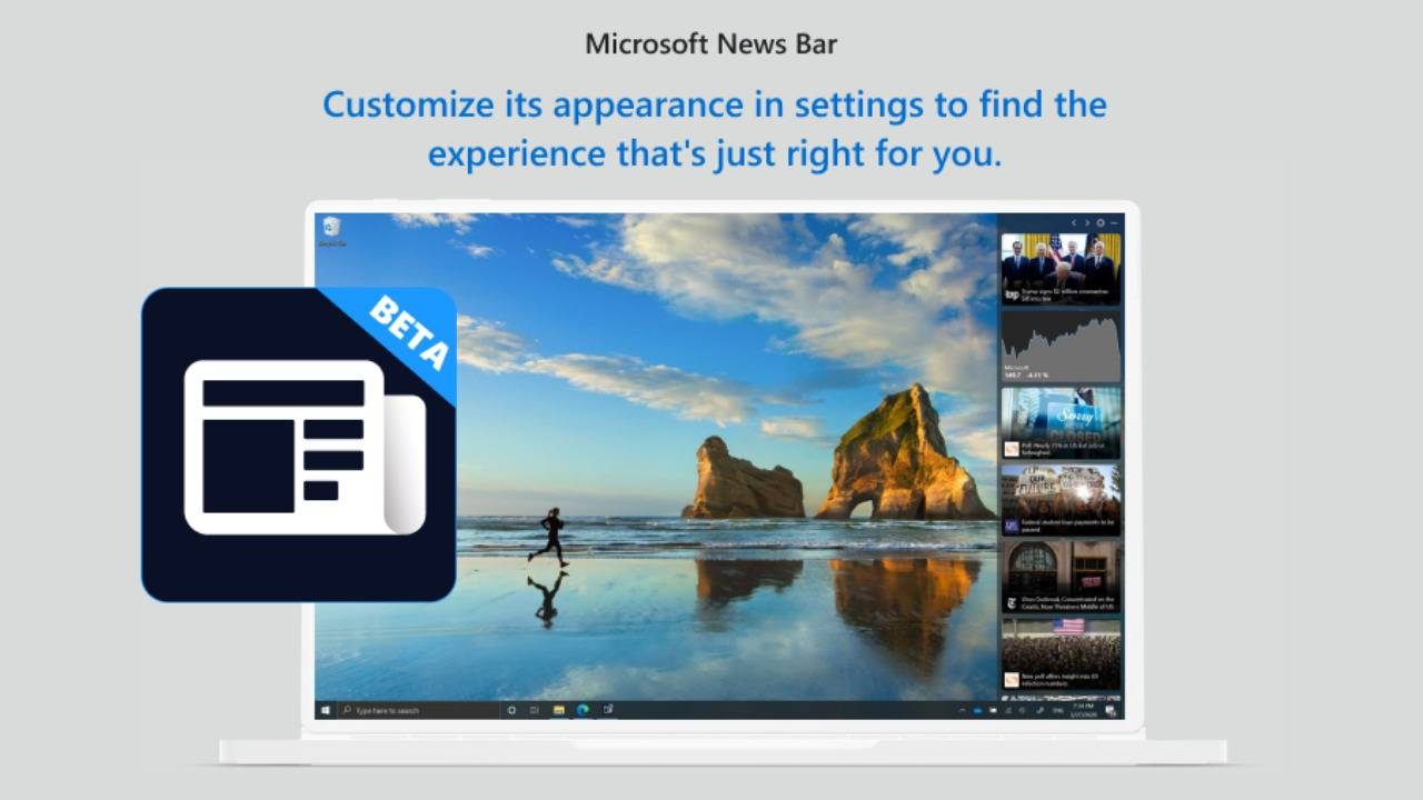 Windows 10 Insider Preview introduces a News Bar side panel