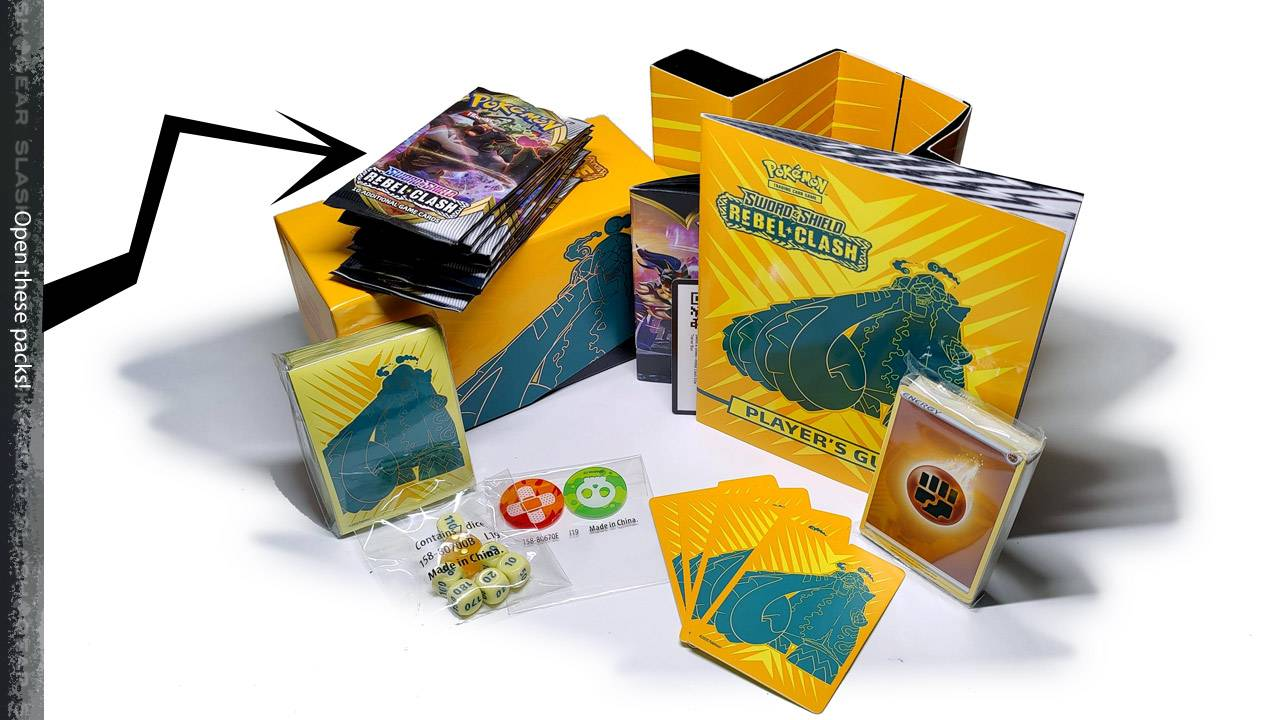 Pokemon TCG Sword & Shield Rebel Clash Elite Trainer Box Unboxing