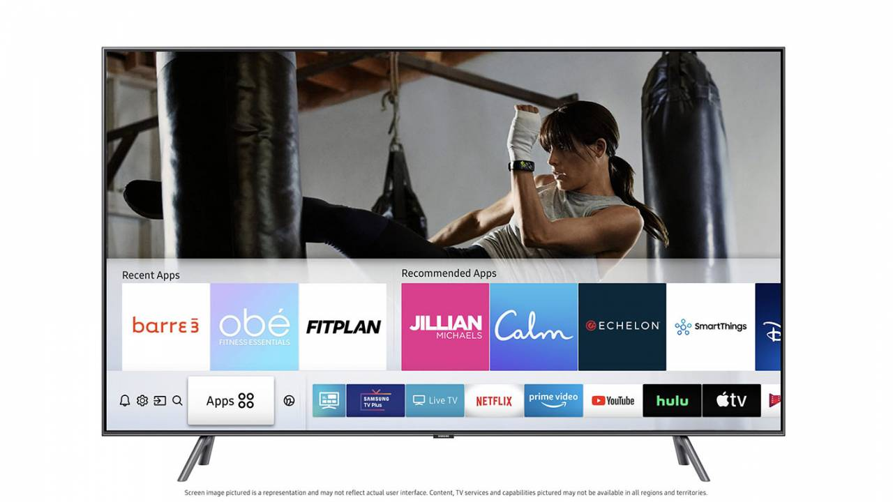 Samsung smart TVs are getting half a dozen new home fitness apps