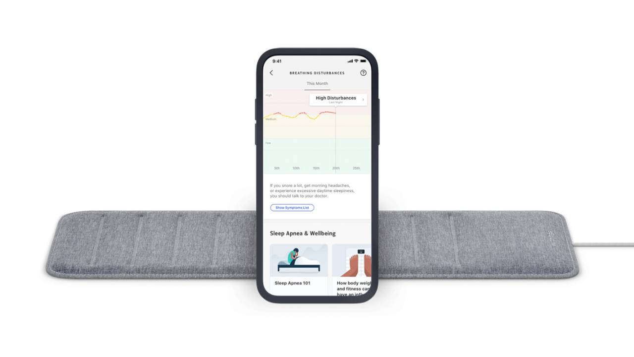 Withings Sleep Analyzer updated with new sleep apnea detection