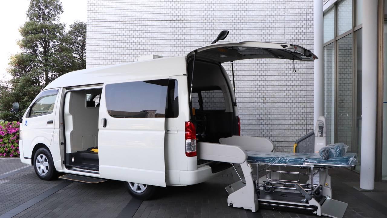 Toyota unveils custom COVID-19 ambulance and patent tech freeze