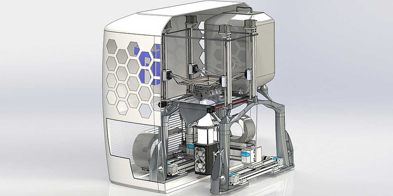 New 3D metal printer uses LED light source