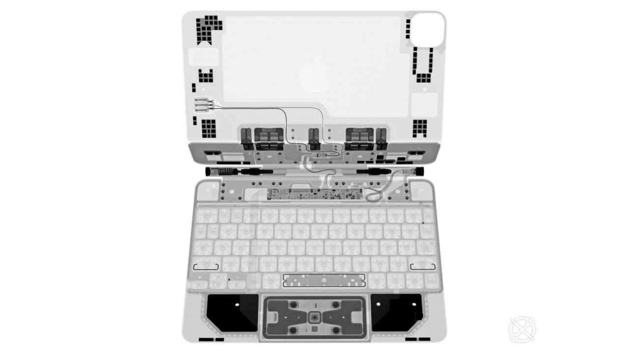 iPad Pro Magic Keyboard iFixit X-Ray reveals a very busy accessory