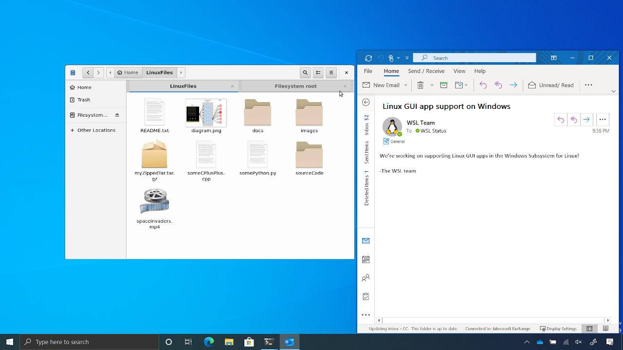 Windows 10 will soon be able to run Linux GUI apps directly