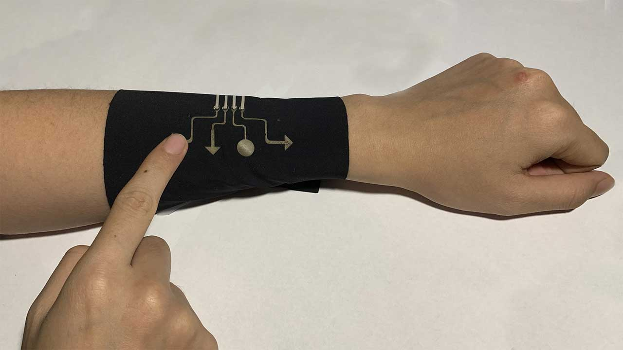 Engineers create thin, stretchable electronic material that is gas permeable