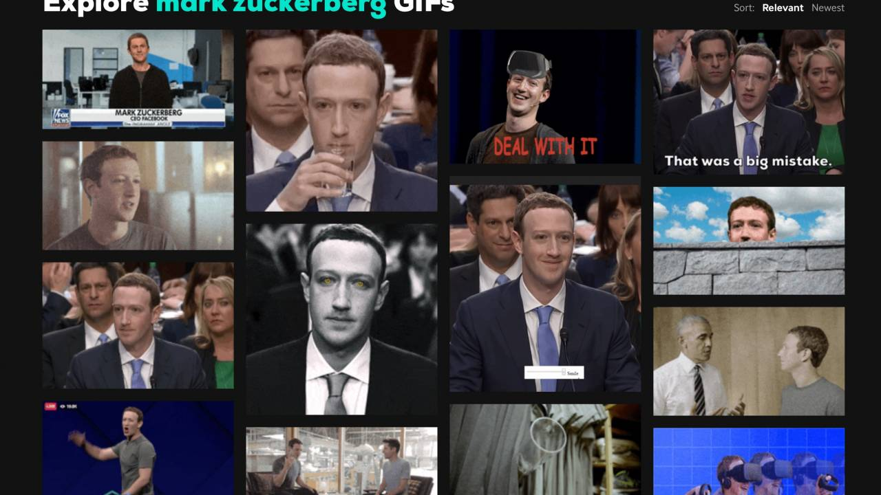 GIPHY denies removing Zuckerberg GIFs after Facebook acquisition