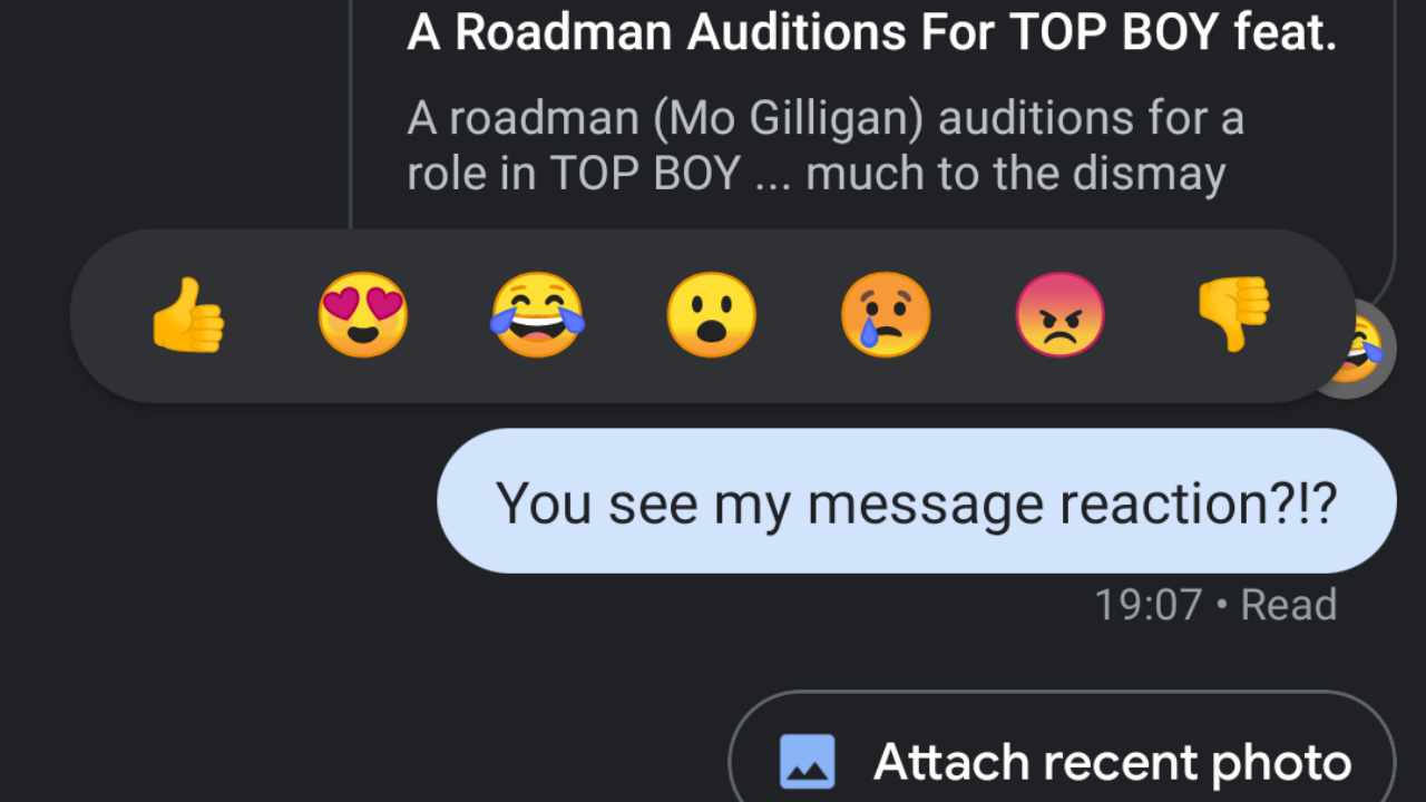 Google Messages rolls out emoji reactions in RCS-only chats