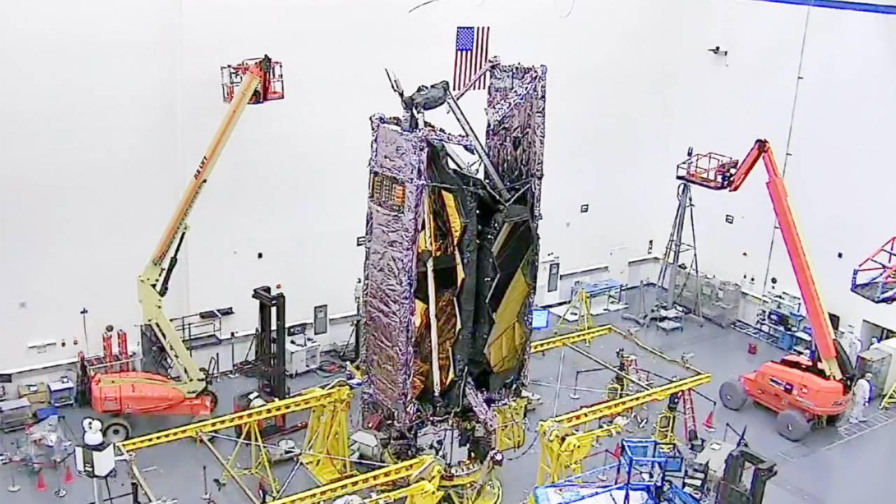 Watch NASA's James Webb Space Telescope do high-tech origami