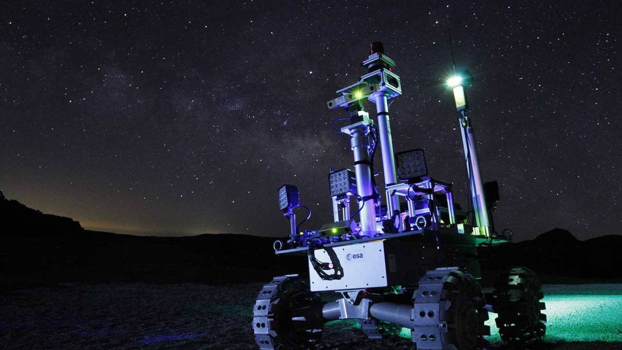 ESA moon rover could explore dark craters using laser power