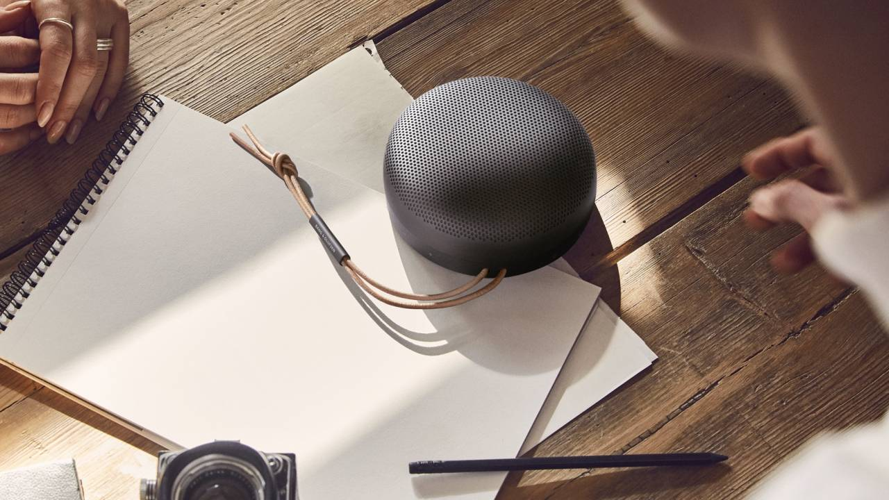B&O's Beosound A1 is a Bluetooth speaker with hands-free Alexa