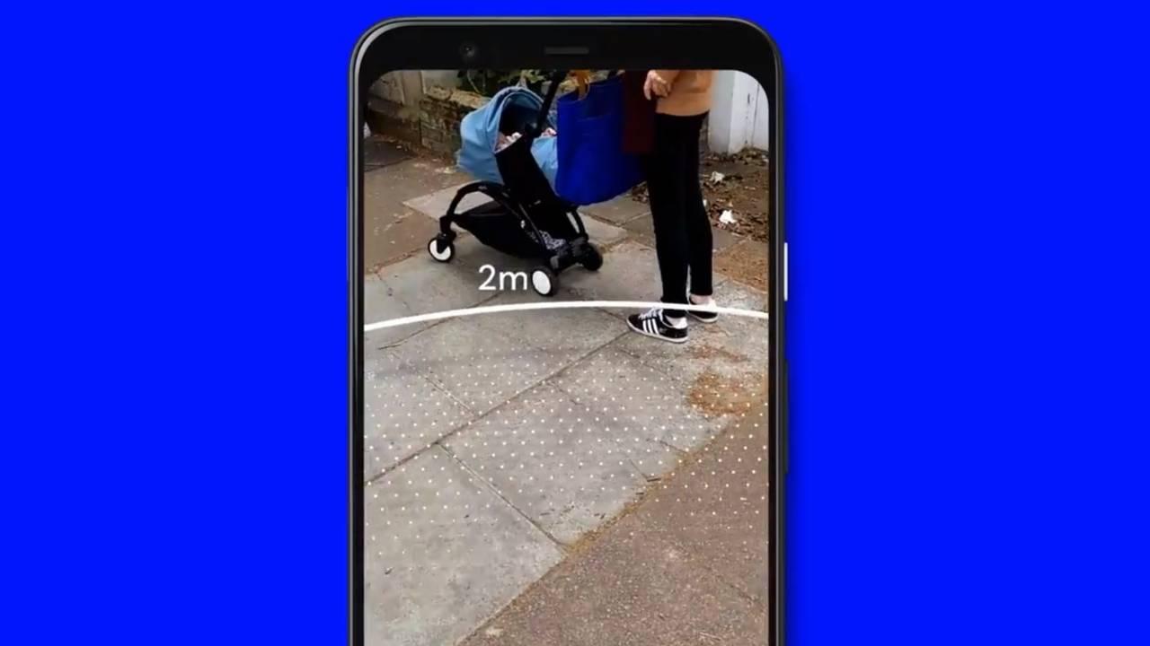 Google Sodar app practices social distancing in an odd way