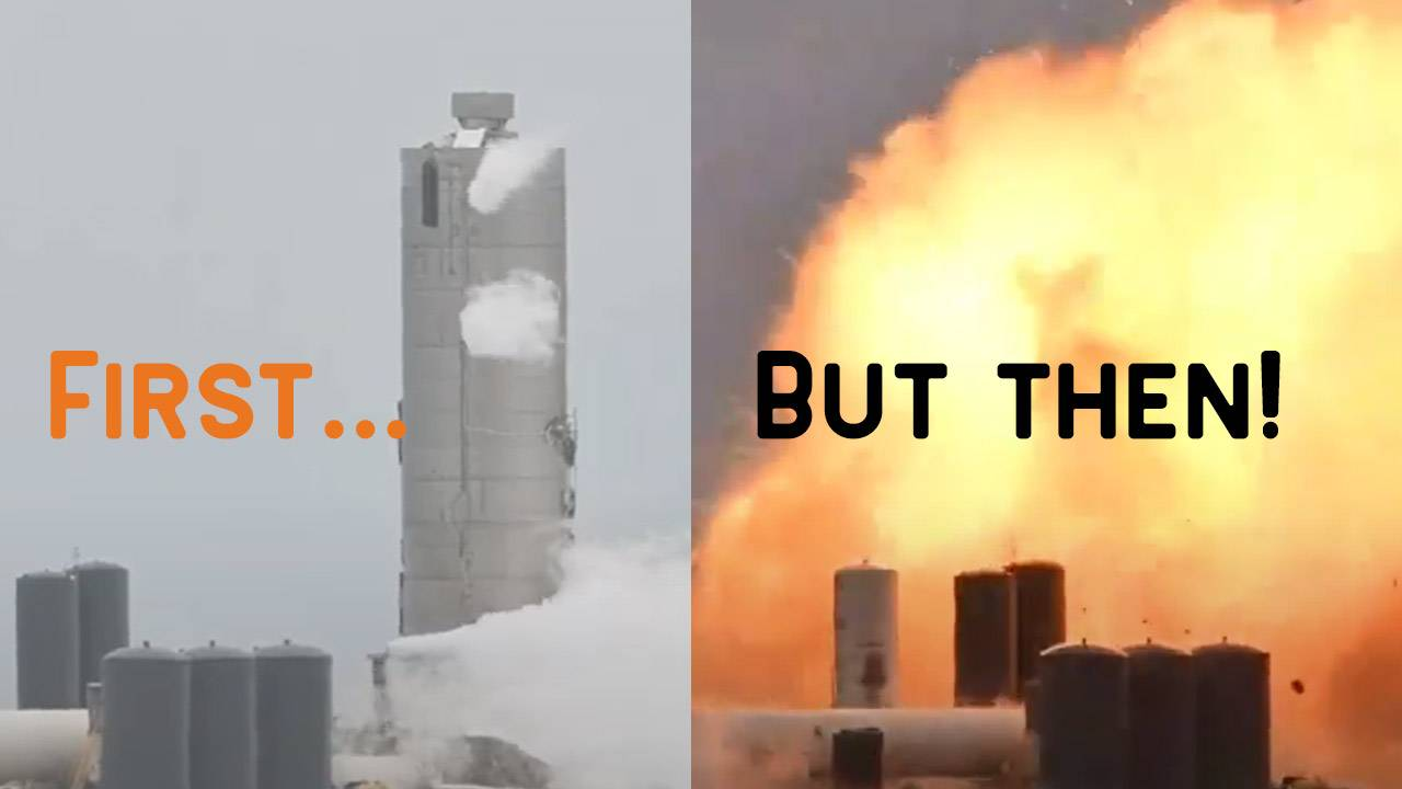 SpaceX Starship SN4 exploded (the last one imploded)