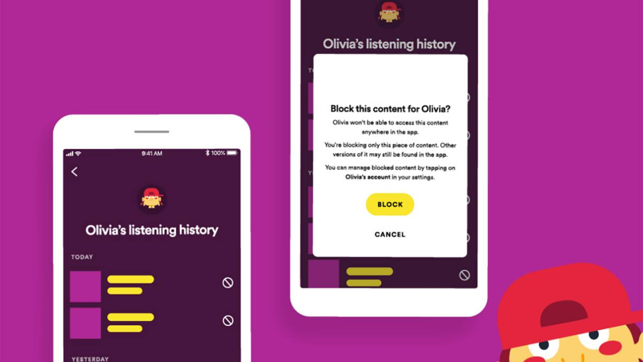 Spotify Kids app updated with new parental control features