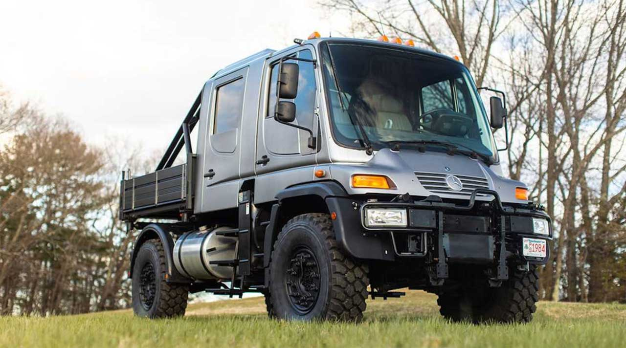 Here's your chance to buy a Mercedes-Benz Unimog U500