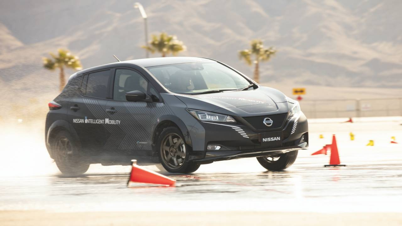 Watch Nissan e-4ORCE make EVs more fun to drive