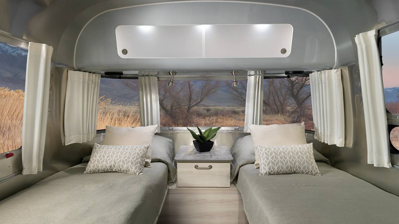 Airstream updates Flying Cloud and International trailer with posh interiors