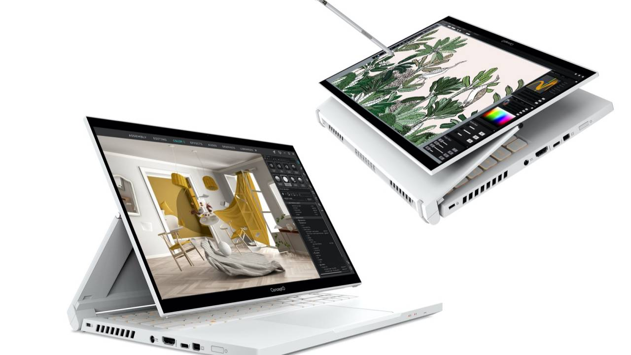 Acer ConceptD 2020 PCs include potent convertible for graphics pros