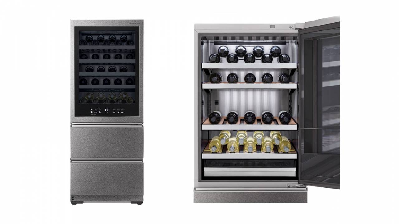 LG Signature smart wine cellar packs voice control and cheese drawer