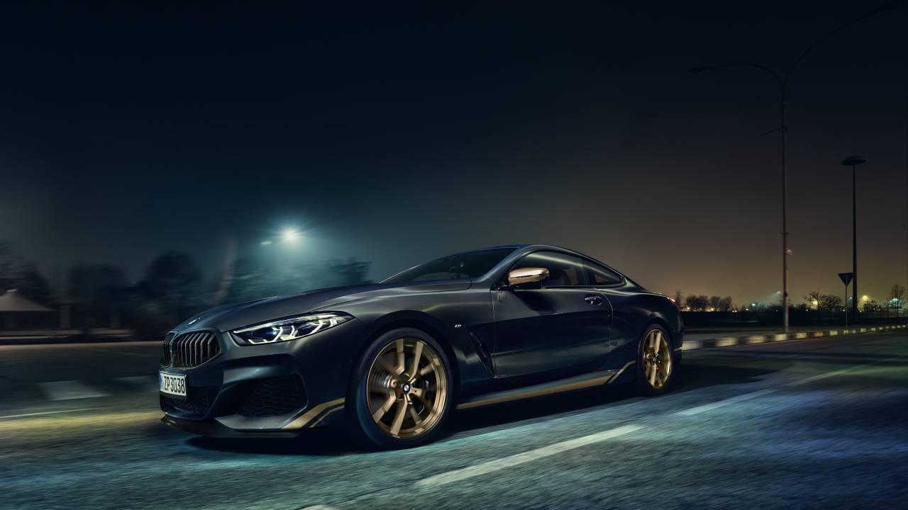 BMW 8 Series Golden Thunder Edition has a black and gold theme