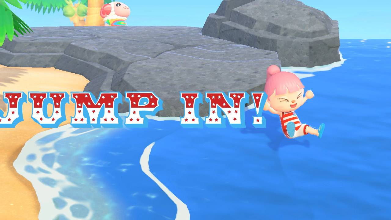 Animal Crossing update lets you jump in the water