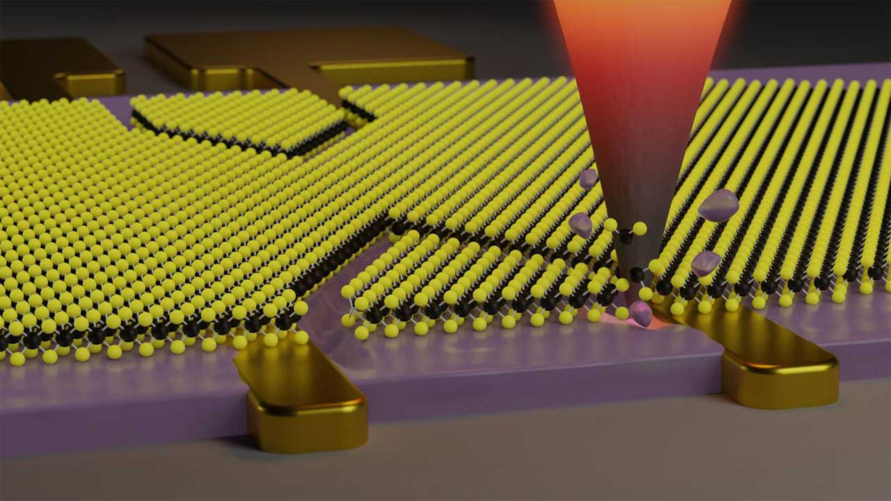 Researchers create a way to cut nanometric patterns into 2D materials