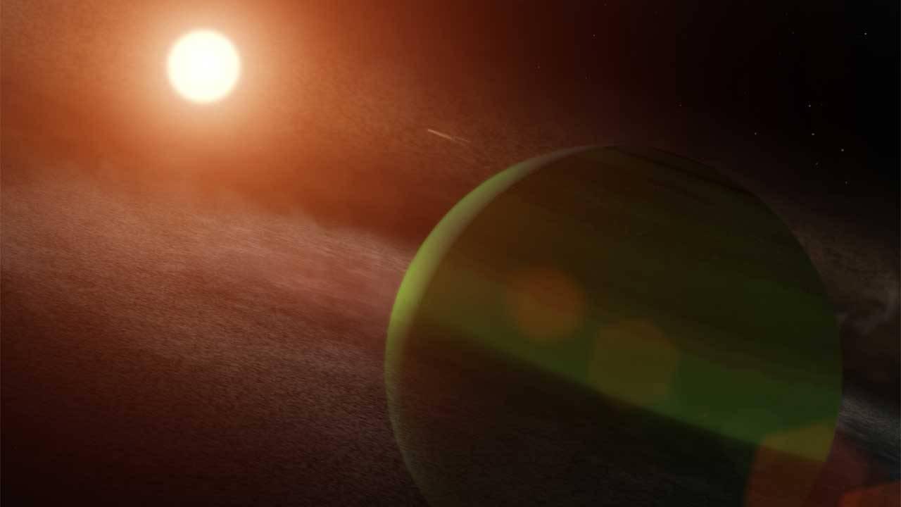 NASA scientists confirm a planet orbits star AU Microscopii