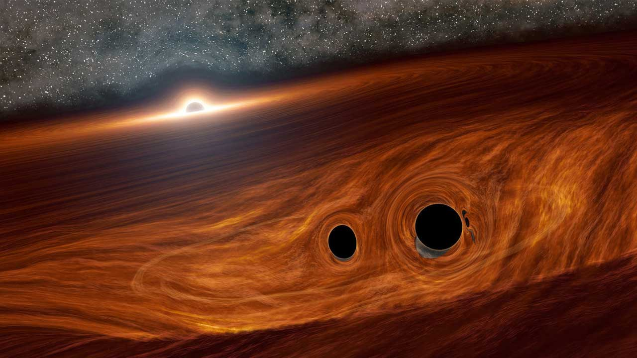 Scientists theorize black hole mergers could create light