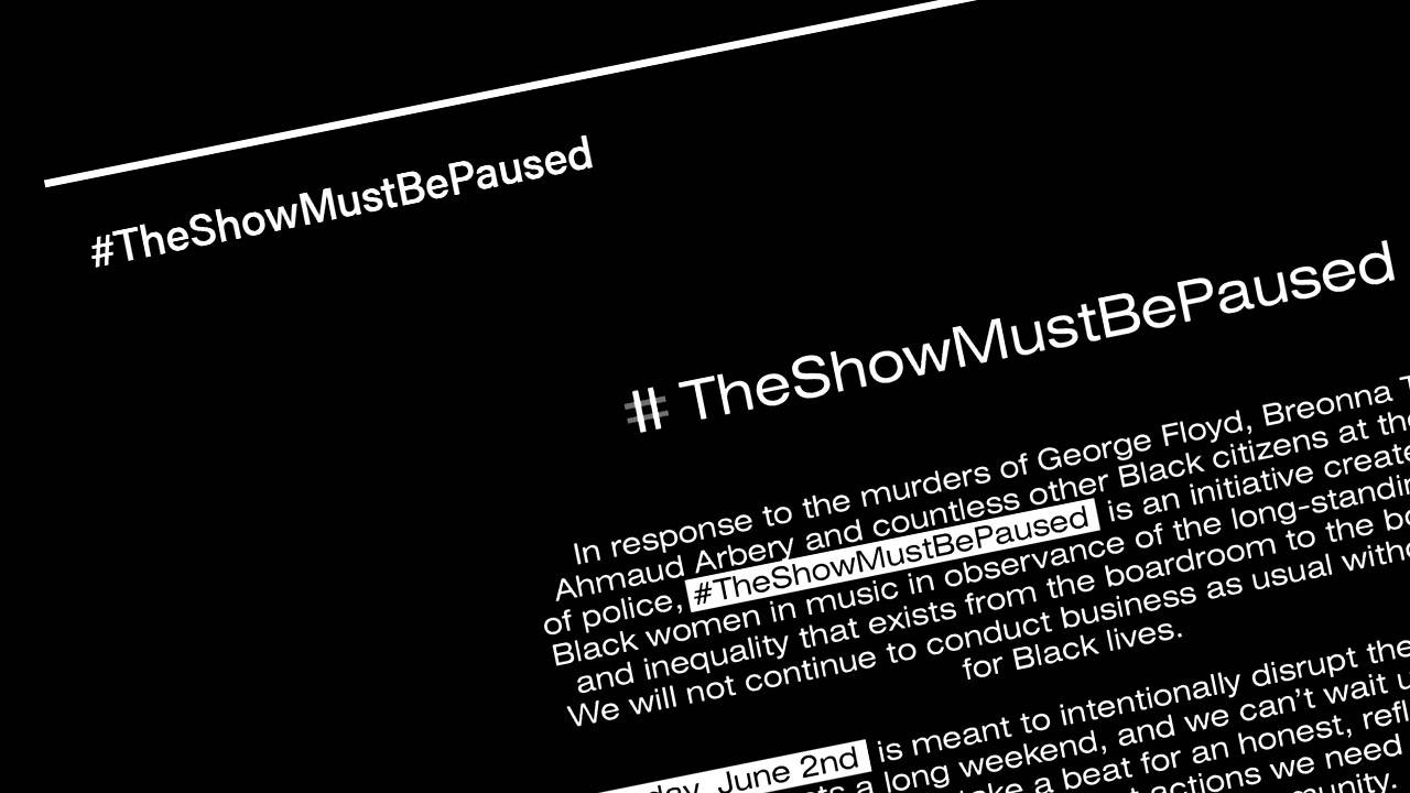 Black Out Tuesday social media, music campaign made to pause, not to mute