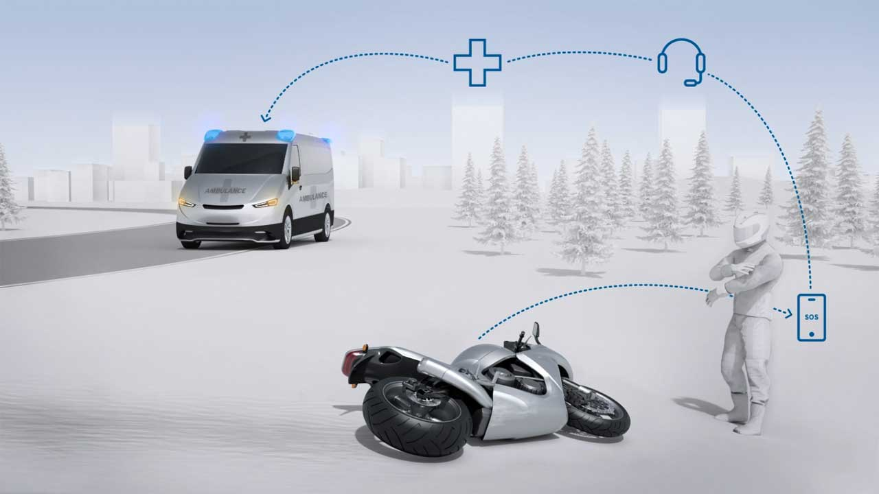 Bosch creates a system that helps motorcyclists get faster emergency assistance