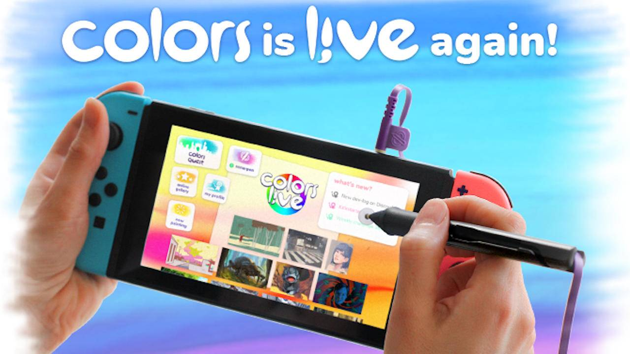 Colors Live wants to turn the Nintendo Switch into an art tool