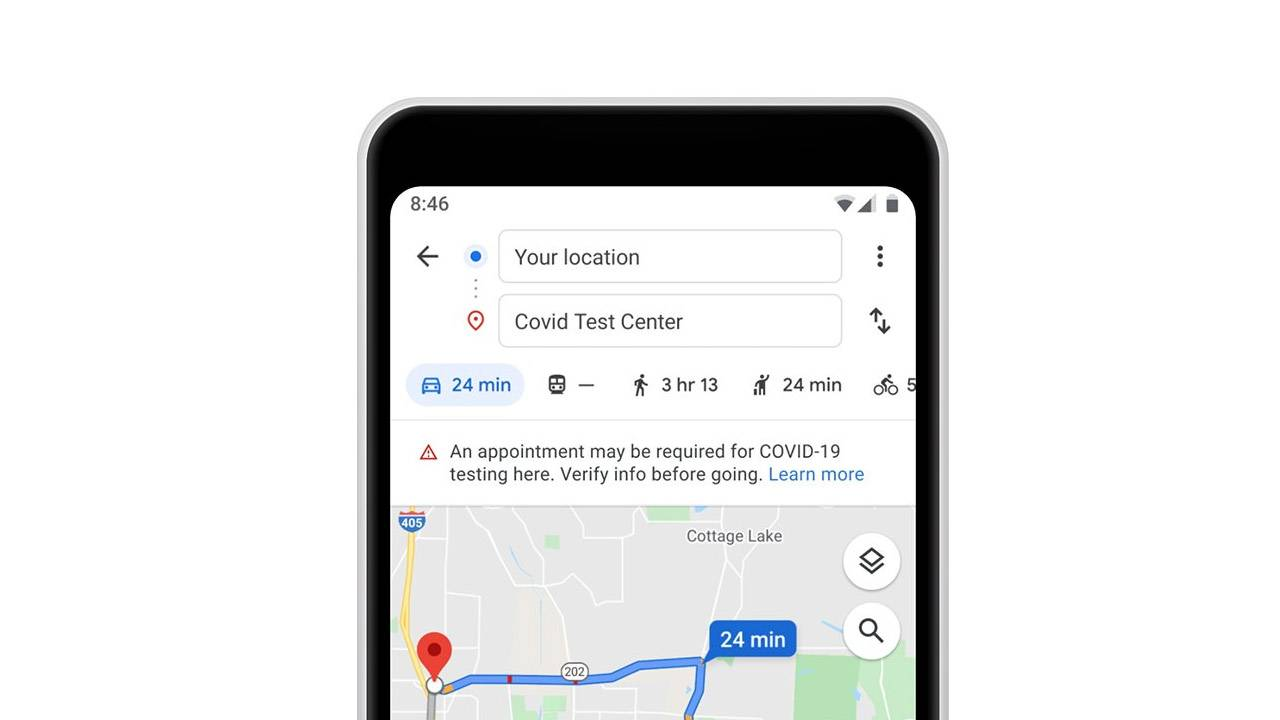 Google Maps update adds COVID-19 safety features, border alerts