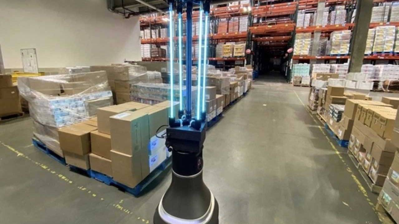CSAIL robot disinfects a warehouse facility using UV-C light