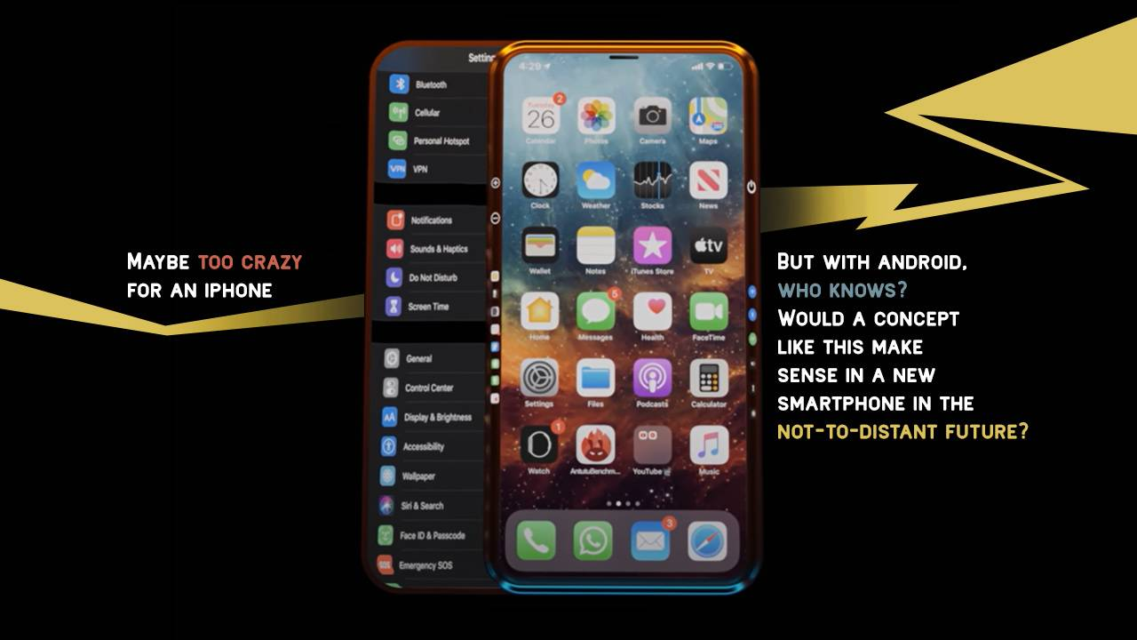 This iPhone 13 concept is too insane for Apple, but what about Android?
