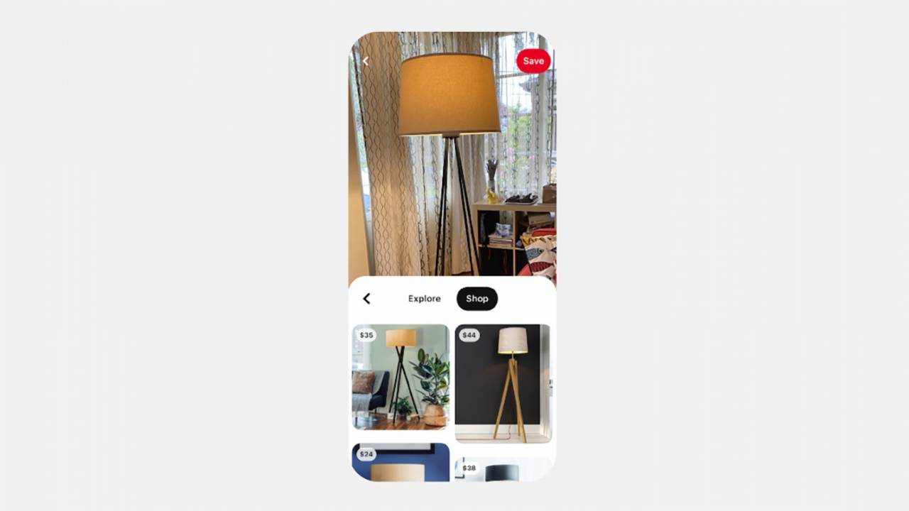 Pinterest Lens visual search tool can be used to shop for IRL items