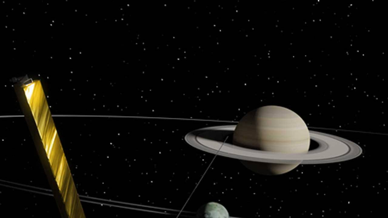 Titan is moving away from Saturn at a rate 100 times greater than predicted