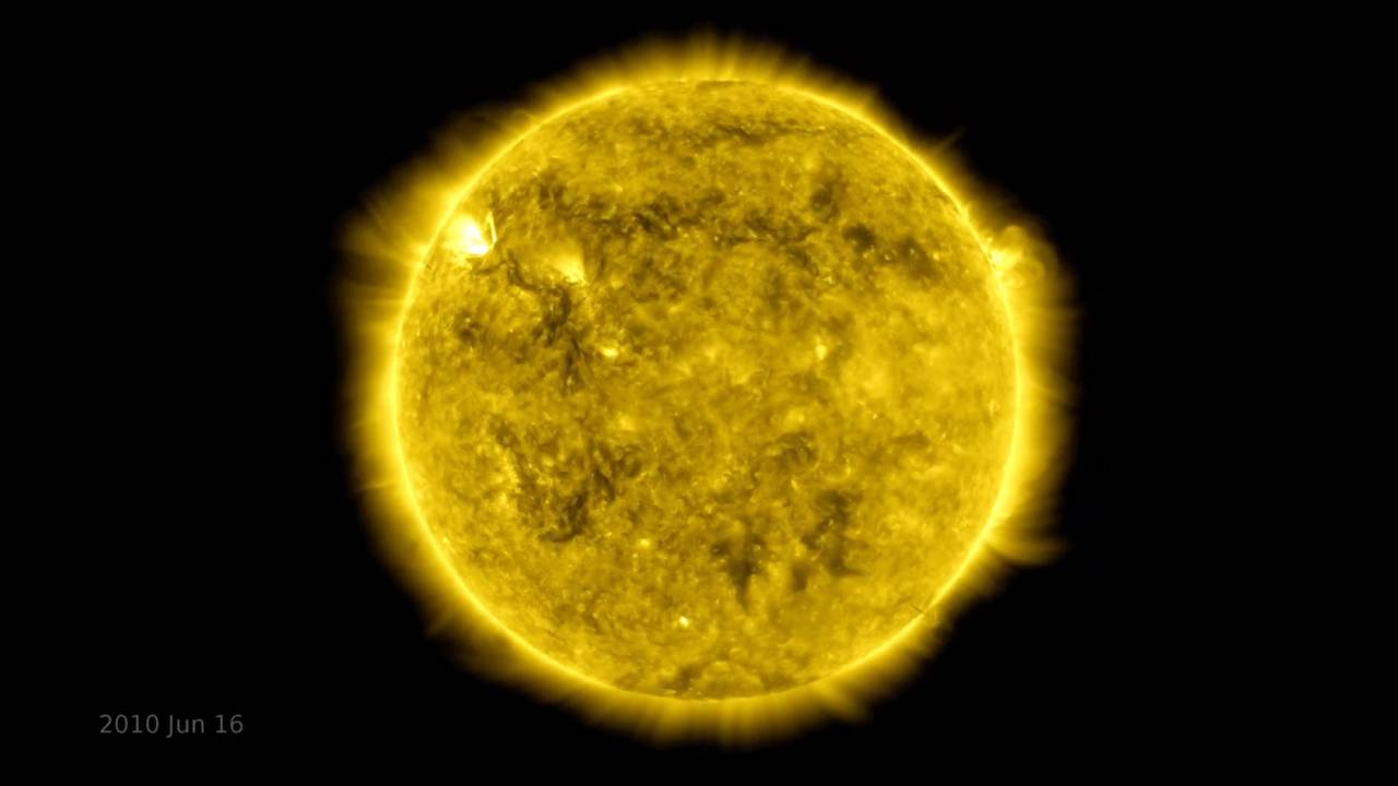 Mesmerizing time-lapse captures NASA's ten years of Sun study