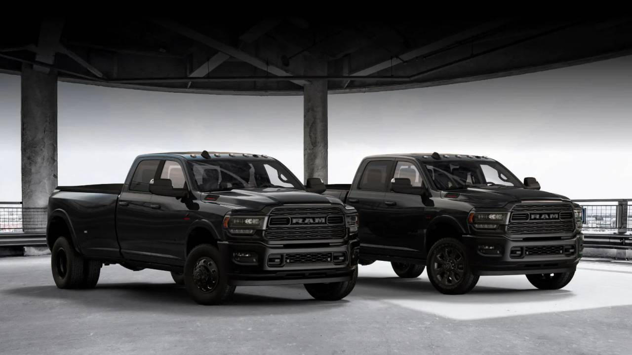 2020 Ram HD Blackout Edition features a monochromatic styling theme