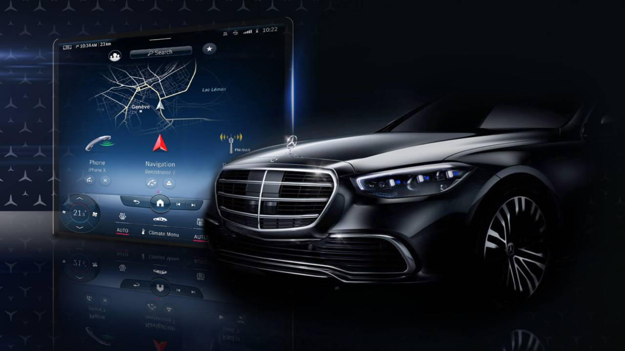 2021 Mercedes S-Class teases AR windshield and hybrid range boost