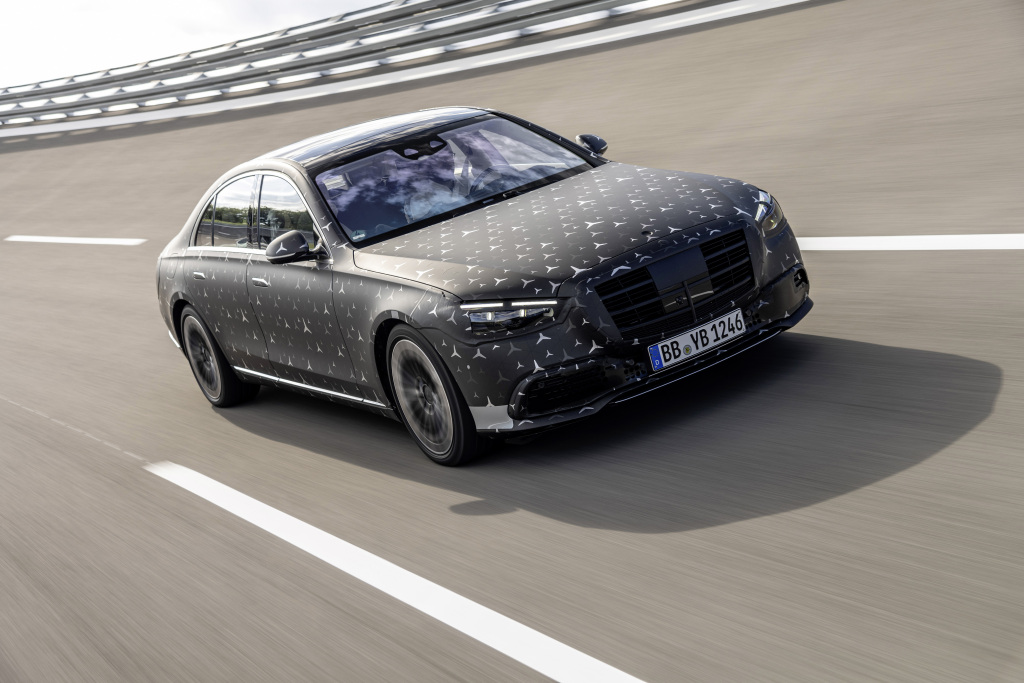 2021 Mercedes-Benz S-Class previews rear-axle steering and E-Active Body Control suspension