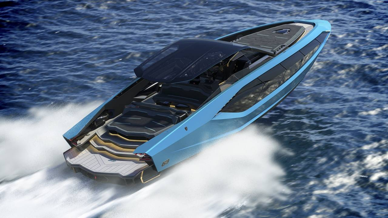 This Lamborghini yacht is 4,000 horsepower excess