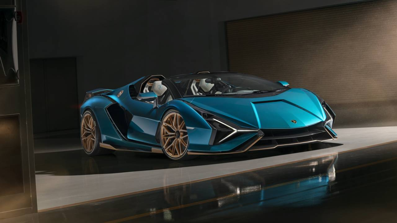 Lamborghini Sián Roadster is a rare and epic V12 hybrid hypercar
