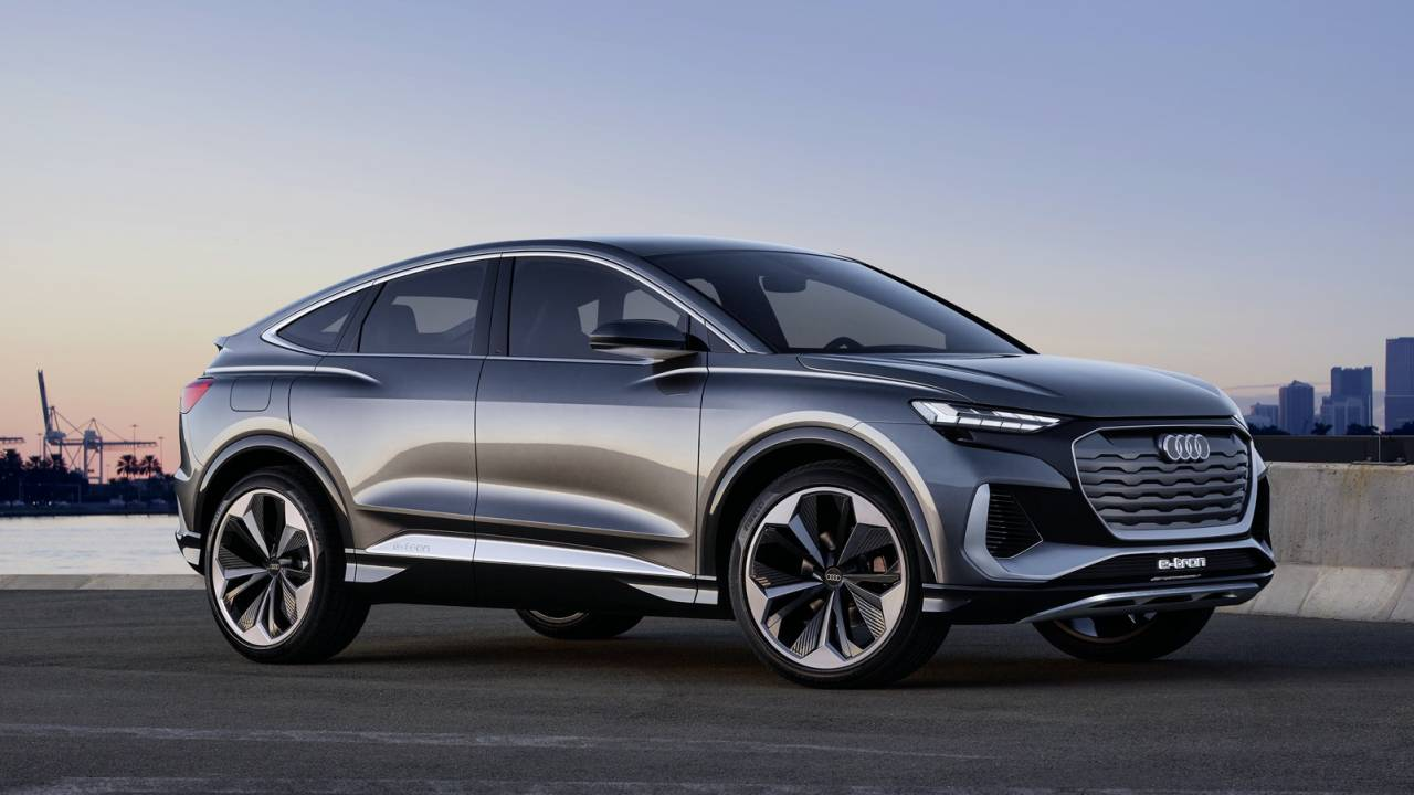 Audi Q4 Sportback e-tron concept previews crossover EV for 2021