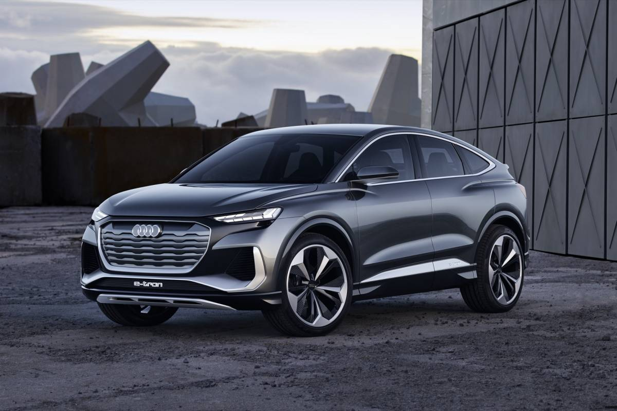 audi q4 sportback etron concept previews crossover ev for
